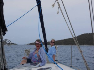Jules and I on the bow