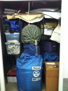 Boat stuff in storage