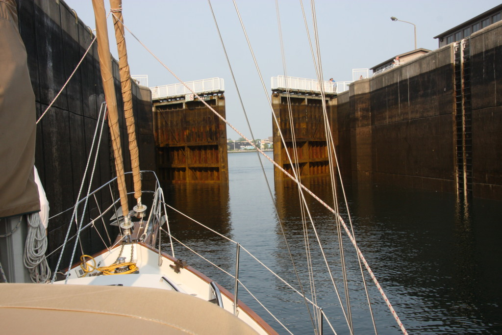 Going through the Canadian Locks