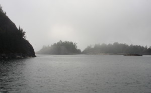 Morning fog at Sinclair Cove