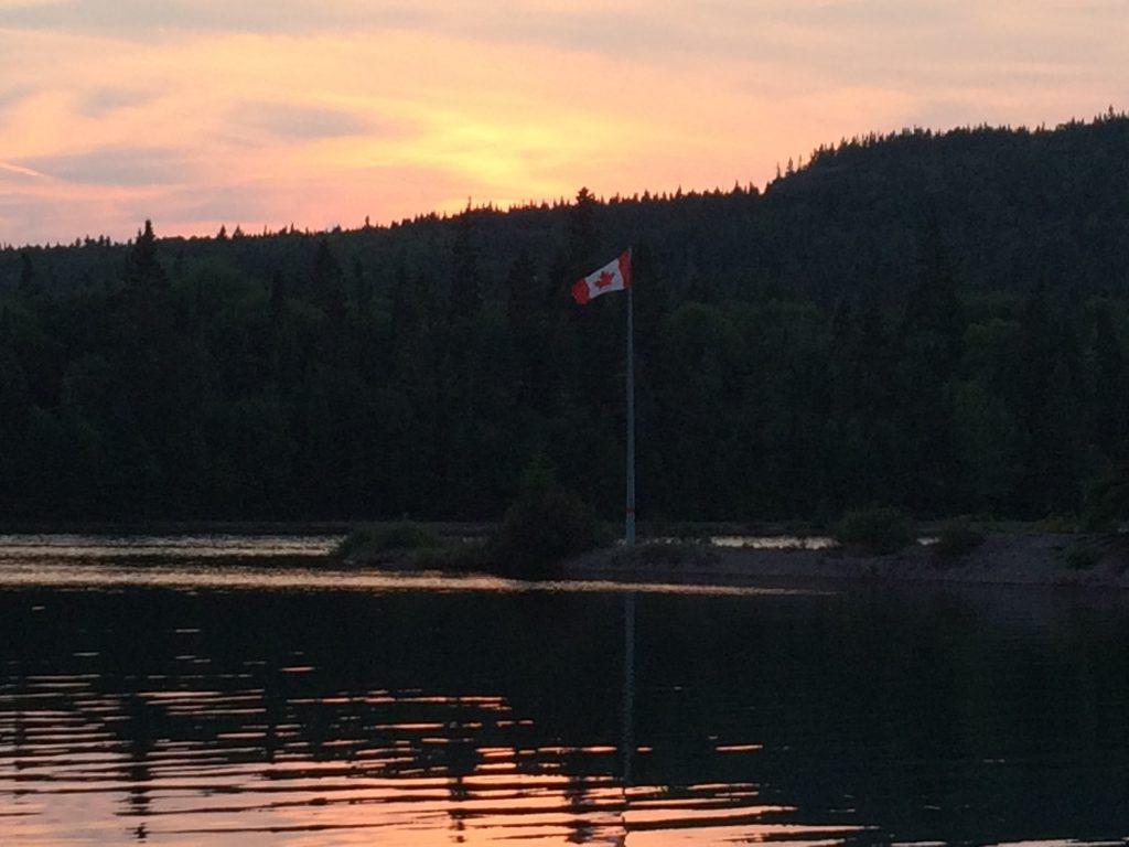 August 30 Sunset over the entry spit at CPR Slip
