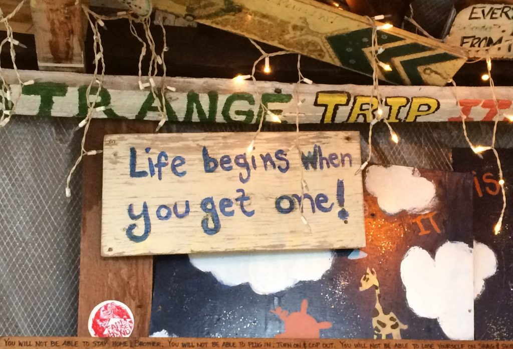 September 26 Words of wisdom at Tom's Burned Down Cafe