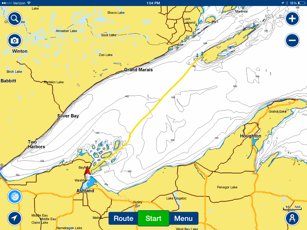 September 4 Our track across Lake Superior