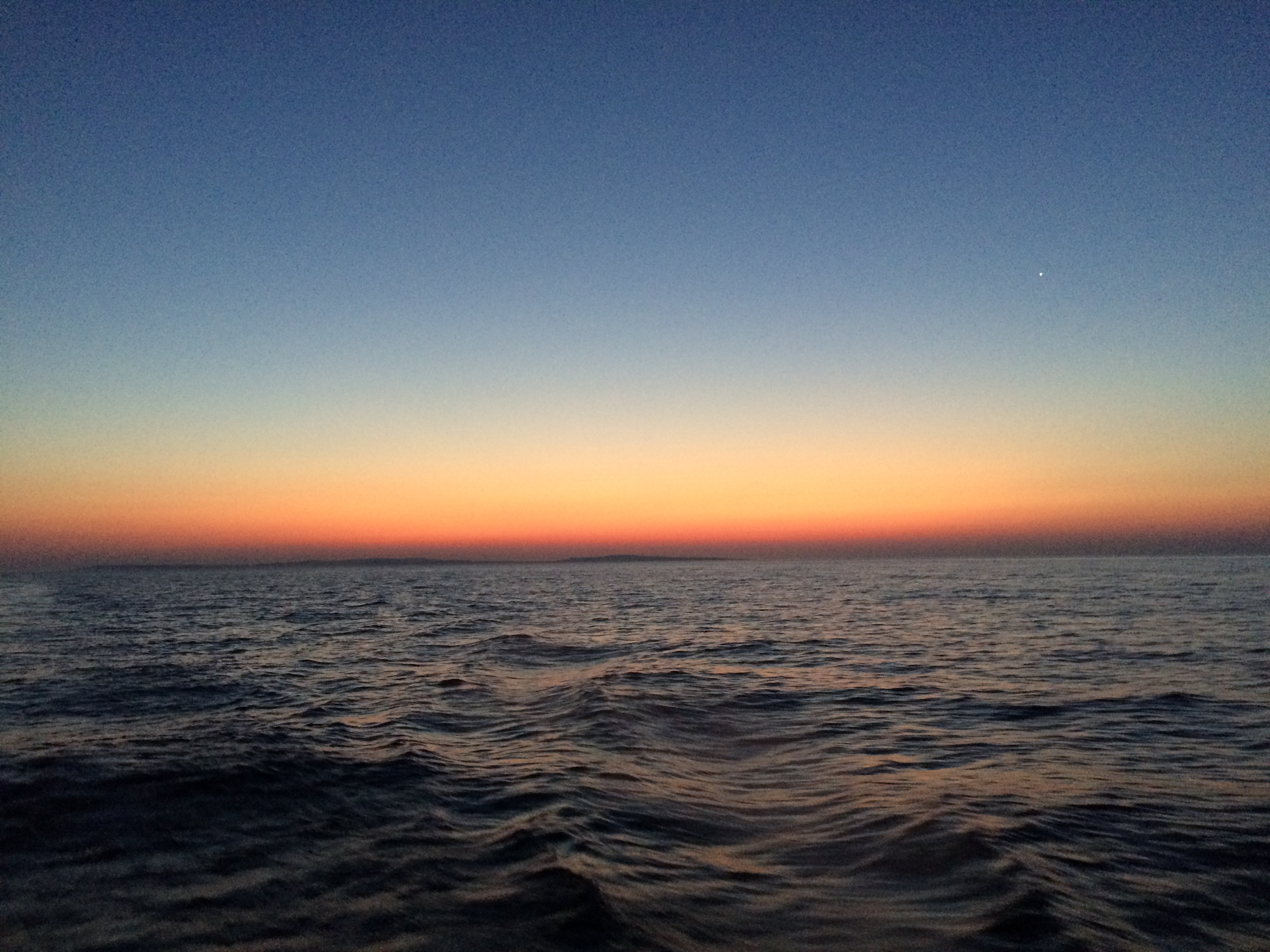 September 4 Sunrise as we cross Lake Superior
