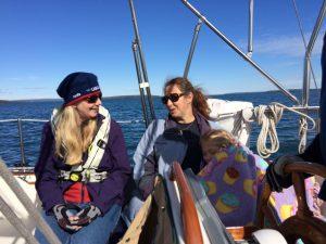 October 4 Julie, Nancy and a sleepy Erin