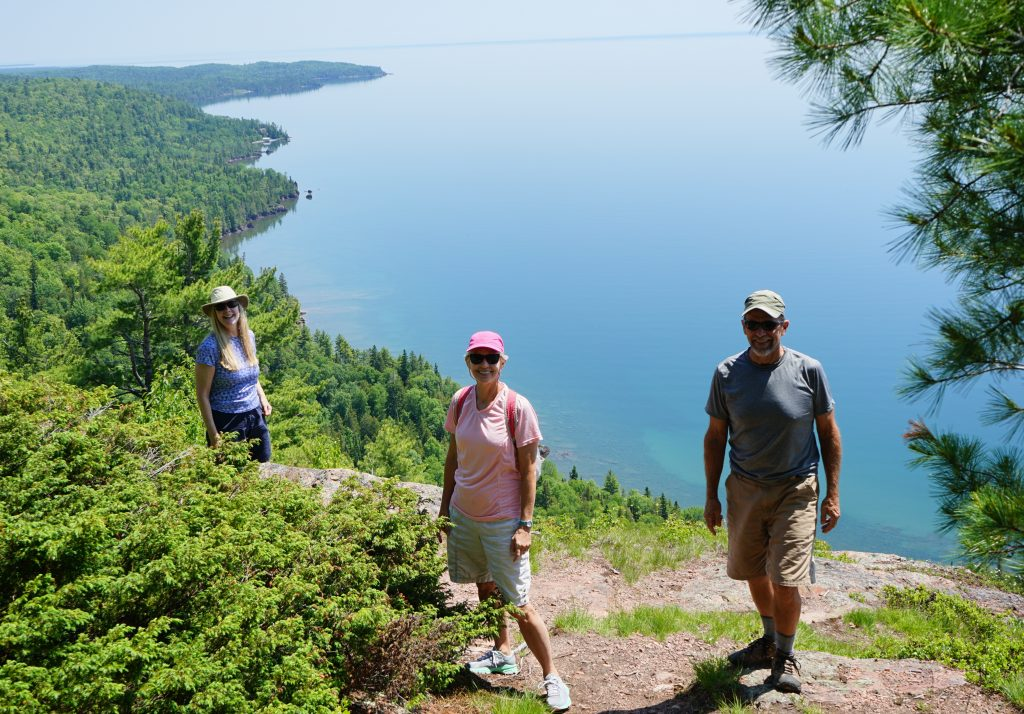 Hike overlooking Lake Superior with Sherie and Dennis