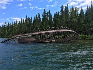 July 18 Skeleton wreck in Quebec Harbour