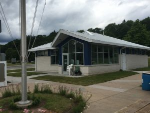 The new marina building in Marquette.