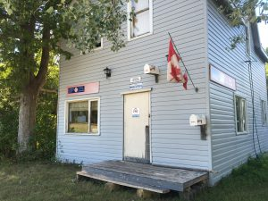 August 8 Tolsmaville Post Office - okay it's a joke, see the airmail box?