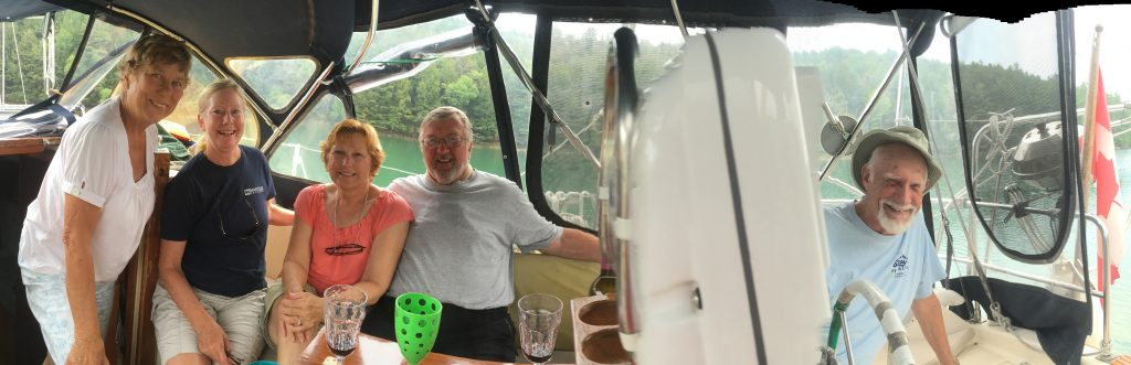 Happy Hour in Covered Portage aboard Fairytale