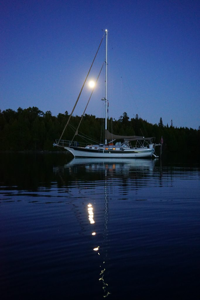 Moonrise over Cove Island Harbour